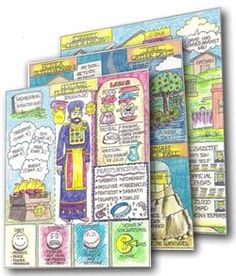 Bible coloring pages that create overviews of each book of the Bible!