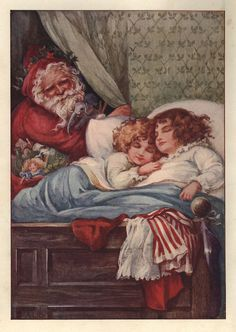 Ada Leonora Bowley - English - vintage Christmas postcard Z Christmas Eve Images, Vintage Christmas Images, Christmas Graphics, Old Fashioned Christmas, Christmas Past, Victorian Christmas, Retro Christmas, Vintage Holiday, Christmas Pictures