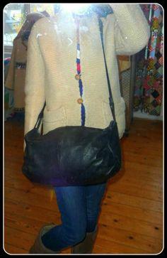 Vintage XL Tasche Leder Schultertasche Bag Shopper Messenger Handtasche Beutel | eBay