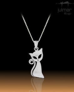 Solid Sterling Silver intricately crafted into a beautiful and lustruous cat shaped pendant. http://www.julmar.com.au/collections/pendant/products/chic-cat-sterling-silver-pendant