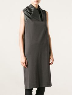 Rick Owens Funnel Neck Shift Dress - Vitkac - Farfetch.com