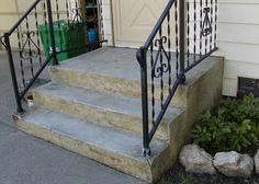 Paint concrete steps to look like brick steps.