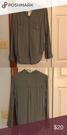 Grey Abercrombie and Fitch button down shirt Abercrombie and Fitch size small button down grey shirt Abercrombie & Fitch Tops Button Down Shirts