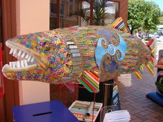 """'Mr Fish' entered in the annual 'Fish out of Water"""" competition 2010.  Look out for this year's awesome entries around town."""