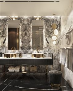 Best Eclectic Bathroom Design Ideas - Bathroom - Info Virals - New Fashion and Home Design around the World Bathroom Design Luxury, Modern Bathroom, Master Bathroom, Eclectic Bathroom, Bathroom Marble, Master Baths, Bathroom Mirrors, Washroom, Bathroom Lighting