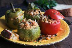 Couscous, Stuffed Peppers, Vegetables, Food, Stuffed Pepper, Essen, Vegetable Recipes, Meals, Yemek