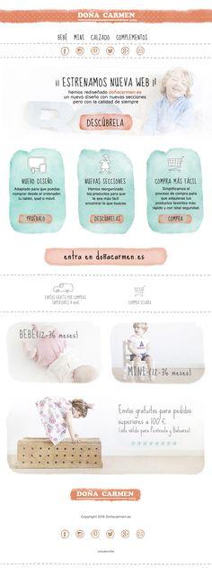 Diseño de email para newsletter de doñacarmen.es