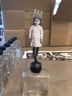 Sweet little soldered bottle angel ! She's ready for you to take her home ! Made by Terri Brush www.terribrush.com
