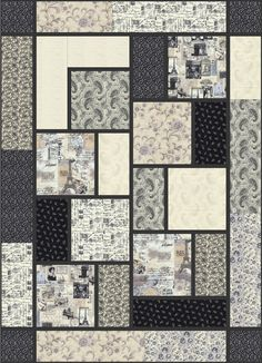 Letters From Paris - The Big Block Quilt by Black Cat Creations.  The guys would like this one.