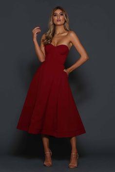 Tara- Crimson - Goldilocks Boutique