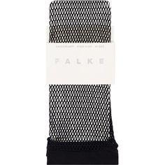 Falke Knee-High Fish Net Socks ($21) ❤ liked on Polyvore featuring intimates, hosiery, socks, fish socks, cuff socks, netted socks, falke socks and falke