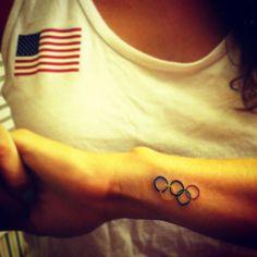Olympic rower Sarah Zelenka Olympic rings tattoo! =]