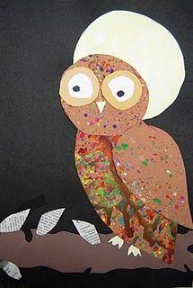 Bird Art 2nd grade 2012 Spotted Owls