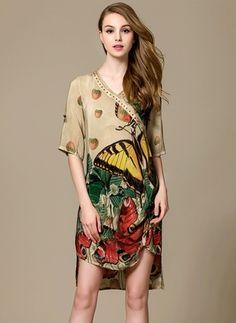 Latest fashion trends in women's Dresses. Shop online for fashionable ladies' Dresses at Floryday - your favourite high street store. Vestidos Vintage, Vintage Dresses, Vogue, Costume, Affordable Dresses, Silk Painting, Textiles, Dress Collection, Fashion Art