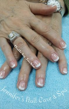 French and Natural Nails with Gel Polish