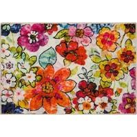 Synthetic Rugs, Mohawk Home, Area Rugs For Sale, Floral Artwork, Floral Area Rugs, Modern Artists, Recycle Plastic Bottles, Online Home Decor Stores, Latex Free
