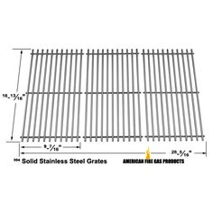 3 PACK STAINLESS STEEL COOKING GRID FORRANGE MASTER, HENDERSON, KENMORE GAS GRILL MODELS Fits Compatible Models : 463441412