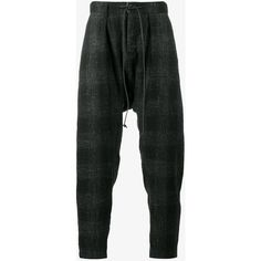 Kazuyuki Kumagai Tapered Wool-Blend Trousers ($595) ❤ liked on Polyvore featuring men's fashion, men's clothing, men's pants, men's casual pants, mens tapered pants and men's wool blend dress pants
