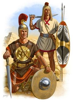 Two Iberian warriors in the Second Punic war under the command of Hannibal Barca. Art by Johnny Shumate.