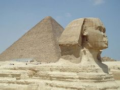 The Sphynx and the Great Pyramid of Giza