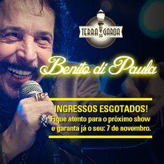 ESGOTADO!  Hoje a festa vai ser boa! Fiquem atentos ao próximo show, 7 de novembro!  www.terradagaroa.com.br