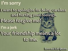 i'm sorry friend quotes - Google Search