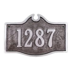 Colonial 1-Line Petite Address Plaque - PCS-52P-N/S-LS