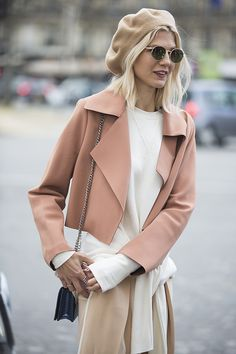 Spotted at PFW (AW16): Shades of nude, blush and cream are perfect for spring. #newlook