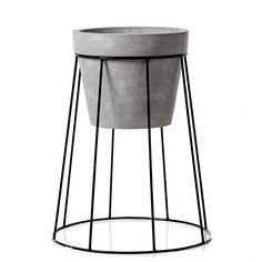 A creative and contemporary way to display your beautiful greenery, the Norsk Plant Stands are great for both indoor and outdoor decorating. Made from powder coated steel in a modern design with a ceramic pot, they add such a stylish touch to your decor. Faux Plants, Potted Plants, Home Republic, Black House, New Room, Bar Stools, Modern Design, Planters, Indoor