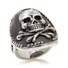 King Baby Jewelry Sterling Silver Skull and Crossbones Coin Ring - 7713376 King Baby Jewelry, Coin Ring, Skull And Crossbones, Three Stone Rings, Unique Rings, Sterling Silver Jewelry, Jewelry Design, Rings For Men, Jewels