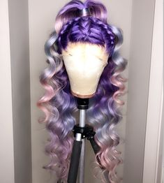 Find images and videos about style, hair and pink on We Heart It - the app to get lost in what you love. Wig Styles, Curly Hair Styles, Natural Hair Styles, Weave Hairstyles, Pretty Hairstyles, Baddie Hairstyles, Black Hairstyles, Lace Front Wigs, Lace Wigs