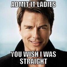 YOU'RE BI YOU LOVE EVERYONE CAPTAIN. ...but yeah. John should be straight....