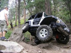 This is MY old JK.  Got offered $8000 over what I had into it so I let it go.  This is a 2007 that was built in 2008 so it was one of the first lifted JK's in the Denver area.  This pic was taken in Carnage Canyon in Boulder-this trail is now closed.  Clark Eckel is spotting me through this little spot.  I now have a TJ.