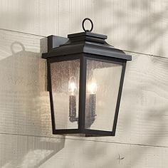 "Minka Irvington Manor 16 3/4"" High Bronze Outdoor Wall Light"