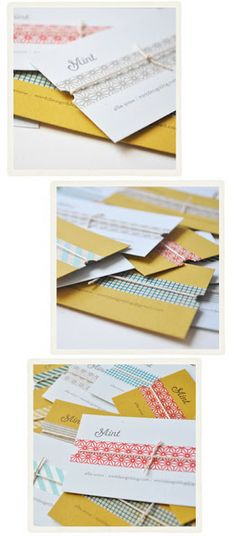 Washi Tape Cards / Tarjetas DIY Business Cards with Washi Tape