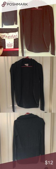Selling this Dark Grey Cardigan on Poshmark! My username is: mckenzieburns89. #shopmycloset #poshmark #fashion #shopping #style #forsale #Glimmer #Sweaters