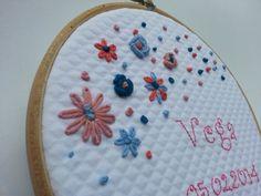 Wood embroidery frame custome-made for children. por KikiyaLab