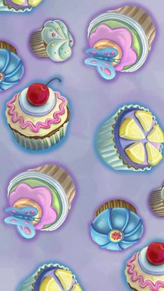 Cupcakes Purple by Karyn Servin. Also found on http://www.extreme7.com/2013/05/microsoft-official-delectable-designs-theme-for-windows-7-and-8.html