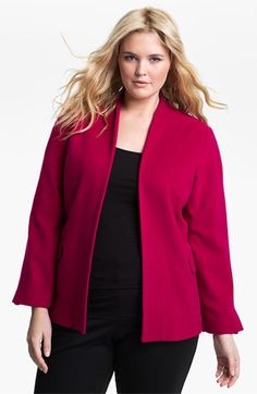 We welcome every plus-size professional woman who wants to build a closet of modern, elegant and well fitting work wear and invite you to visit www.executive-image-consulting.com for more information. Louben Wool Blend Jacket (Plus) available at Nordstrom