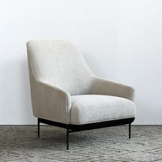 Design by NorthThe Chill High Back Chair is inspired by a pure and minimalistic approach to lounge chair designs. Its internal structural frame is made of Leather Chaise Lounge Chair, Lounge Chair Design, Sofa Chair, Leather Chairs, Lounge Chairs, Swivel Chair, High Back Armchair, High Back Chairs, Navy Blue Living Room