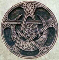 Pentagram and half moon