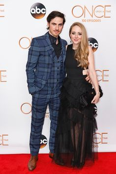 """Actor Colin and Helen O'Donoghue the 100th episode celebration of """"Once Upon A Time"""" at Storybrooke Cannery on February 20, 2016 in Vanc…"""