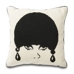mod model pillow from Jonathan Adler.    I always think these pillows would be fun to try and make (though I assume it'd take lots of practice to come out this well).