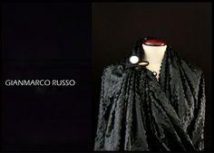 Gianmarco Russo - stola gioiello - limited edition - cachemire e pelle traforato al laser - Made in italy -