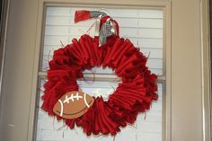 Football Wreath.... oh the possibilities !!!