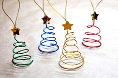 Adornos para árbol de navidad hechos con alambre | Manualidades …