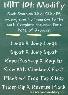 HIIT 101: Modifications