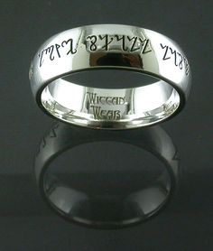 handfastingwedding ring by wiccanwear on etsy inscribed in theban as long as - Wiccan Wedding Rings
