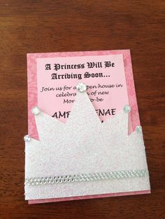 Princess Baby Shower Invites Crown Baby Shower by Craftimania, $75.00