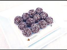 Bomboane Raffaello negre - YouTube Blackberry, Fruit, Okra, Romania, Food, Cooking, Youtube, Kids, Mascarpone